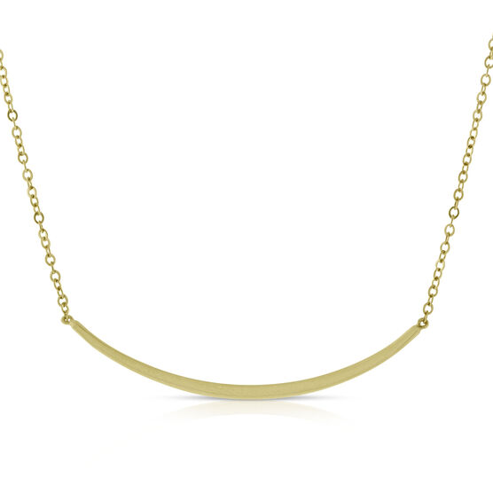 Curved Wire Necklace 14K