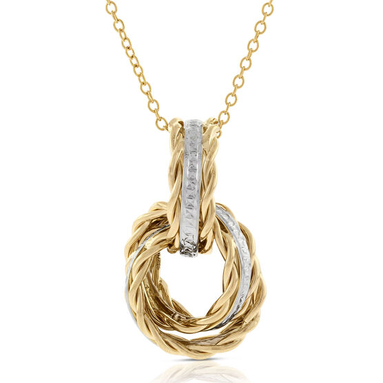 Toscano Collection Rolling Knots Pendant 14K