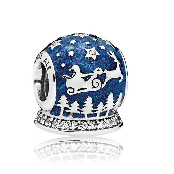 PANDORA Christmas Night Enamel & CZ Charm