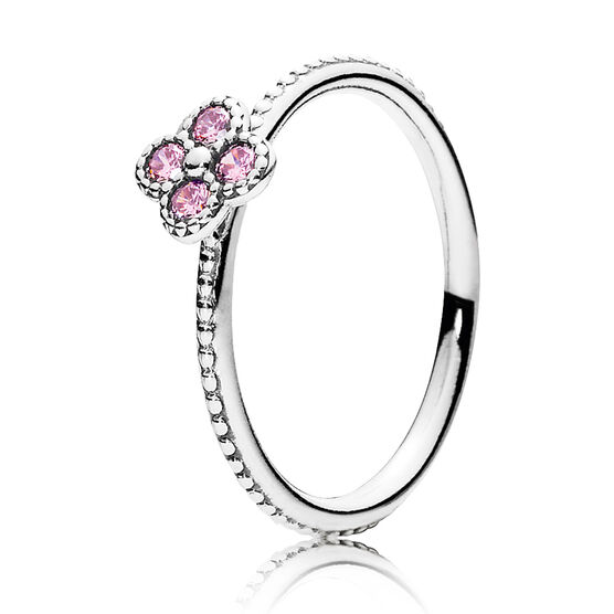 PANDORA Oriental Blossom Pink CZ Ring