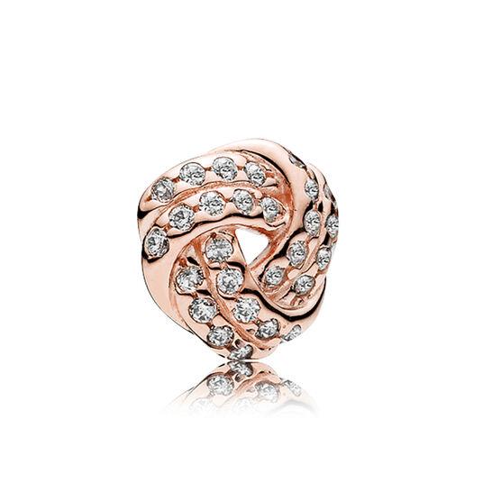 PANDORA Rose™ Sparkling Love Knot Petite CZ Charm
