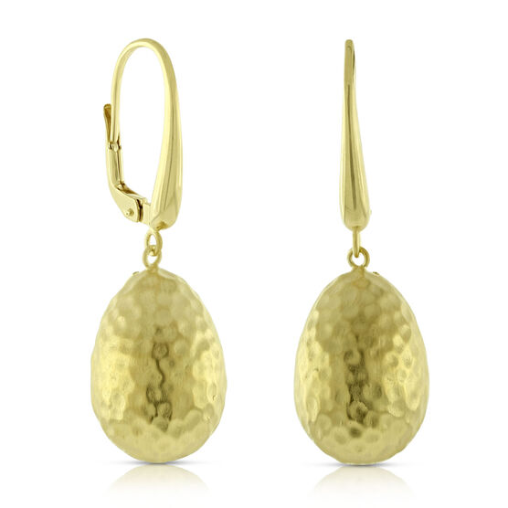 Toscano Collection Hammered Bead Earrings 14K