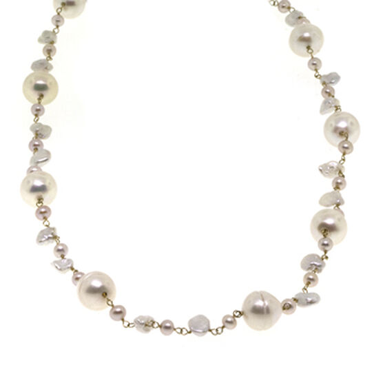 """Freshwater Cultured Pearl Necklace 14K, 18"""""""