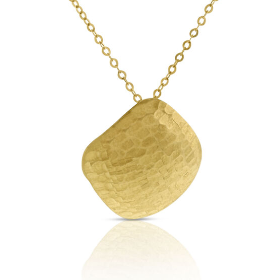 Cushion Shaped Pendant 14K
