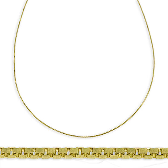 Box Chain 14K, Adjustable Length