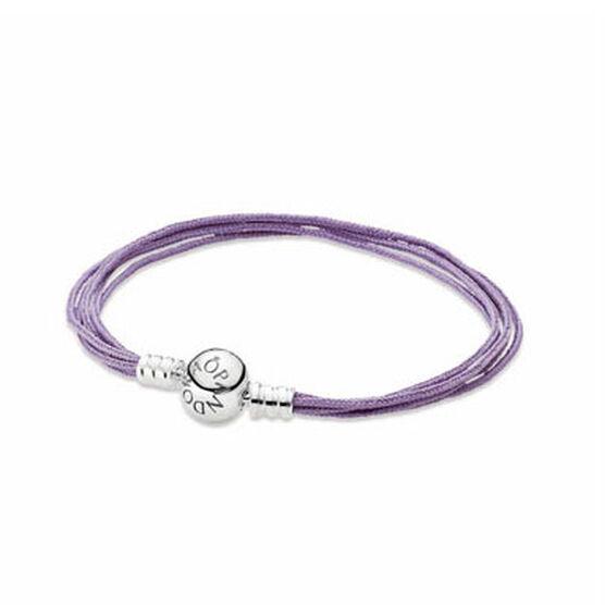 "PANDORA Lavender Cord Bracelet, 7.5"" RETIRED"