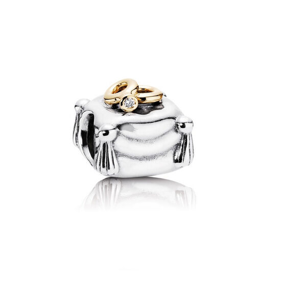 PANDORA Romantic Union Charm, Silver & 14K