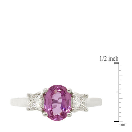 Pink Sapphire & Diamond Ring 18K