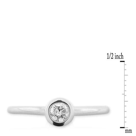 Diamond Stackable Ring 14K White Gold