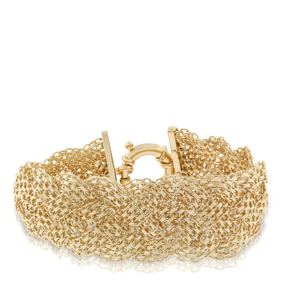 Toscano Collection Woven Braided Bracelet 18K