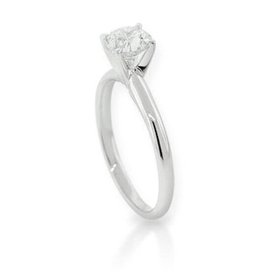 Round Cut Diamond Solitaire Ring, 14K 1ct.