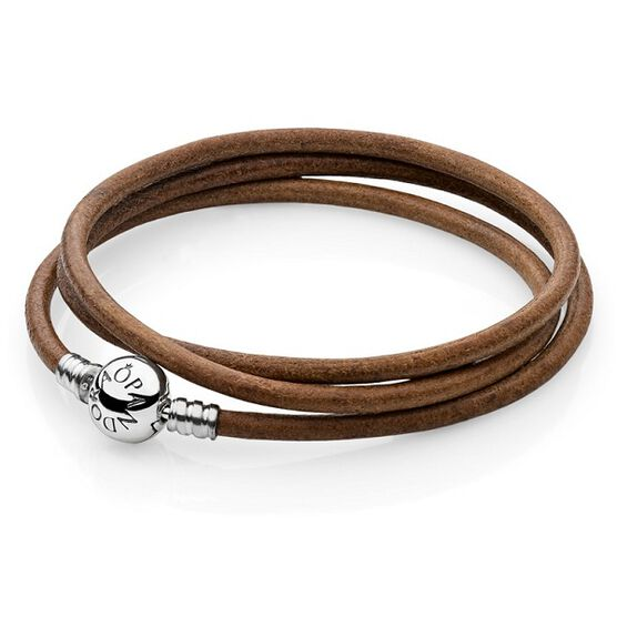 PANDORA Leather Clasp Bracelet RETIRED