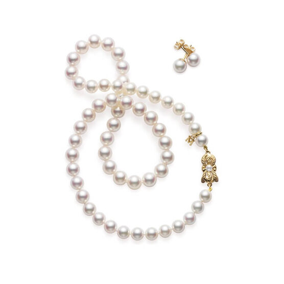 Mikimoto Akoya Cultured Pearl Strand & Earring Set
