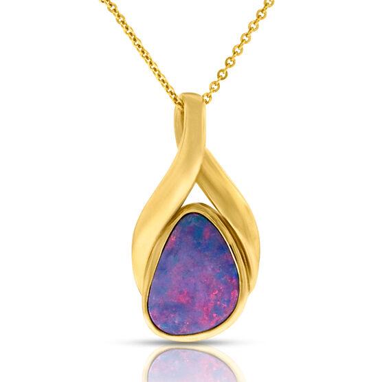 Opal Doublet Pendant 14K