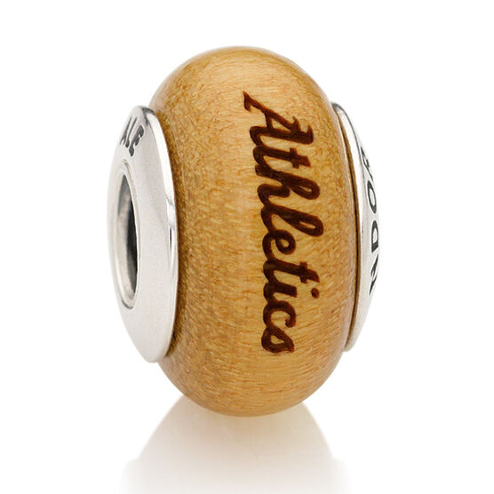 PANDORA Athletics MLB Wood Charm