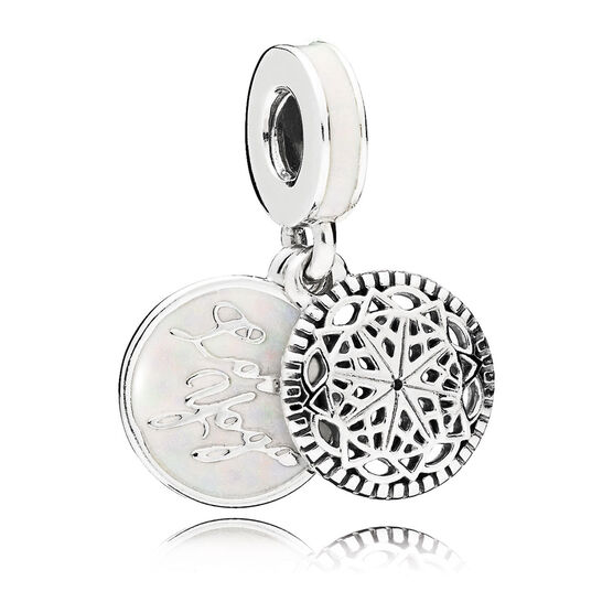 PANDORA Enamel True Yoga Dangle Charm