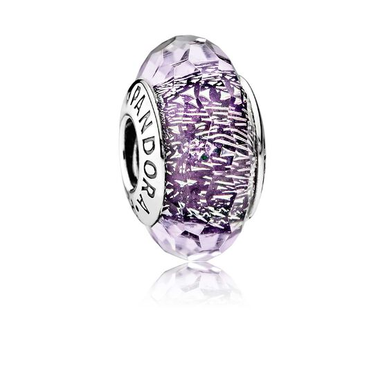 PANDORA Purple Shimmer Murano Glass Charm