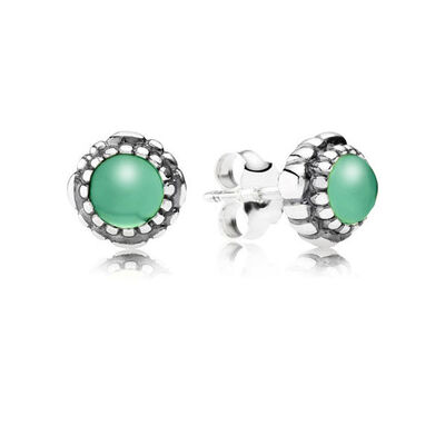 PANDORA Birthday Blooms May Earrings