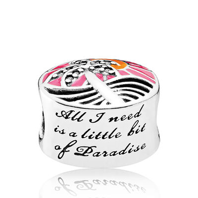 PANDORA Tropical Sunset Enamel & CZ Charm