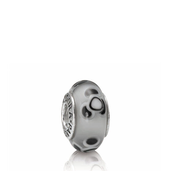 PANDORA Flowers For You Grey Charm RETIRED
