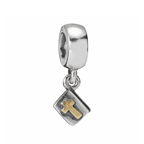PANDORA Bible Charm, Silver & 14K RETIRED