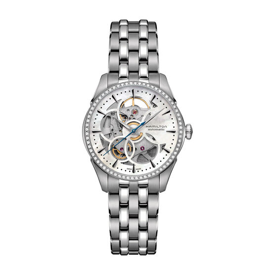 Hamilton Jazzmaster Diamond Viewmatic Skeleton Watch