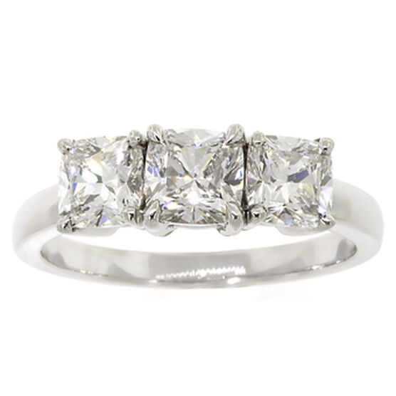 Ben Bridge Signature Diamond™ Cushion Cut Ring in Platinum, 1 & 2/3 ctw.