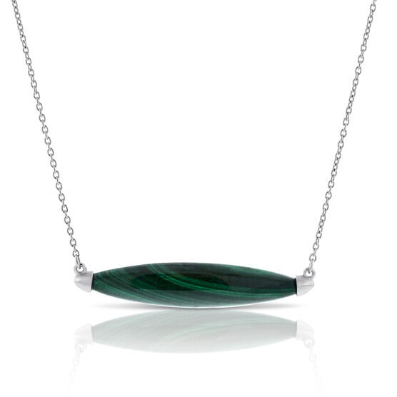Lisa Bridge Malachite Marquise Necklace