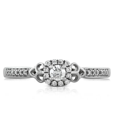Diamond Halo Ring 14K