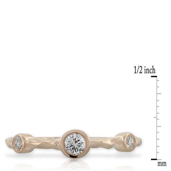 Diamond Stackable Ring 14K Rose Gold