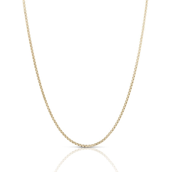 Toscano Collection Half Round Box Chain 18K, 18""