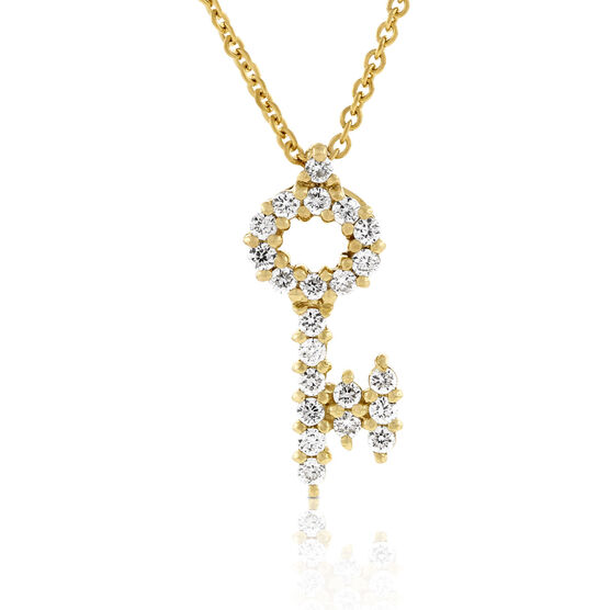 Roberto Coin Diamond Key Pendant 18K