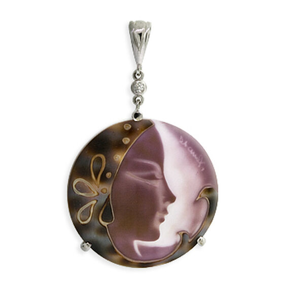 Toscano Collection Shell Cameo Pendant 18K