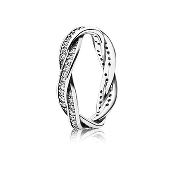 PANDORA TWIST OF FATE CZ RING