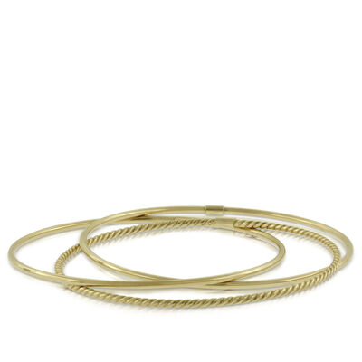 Three Piece Interlocking Bangle Bracelets 14K