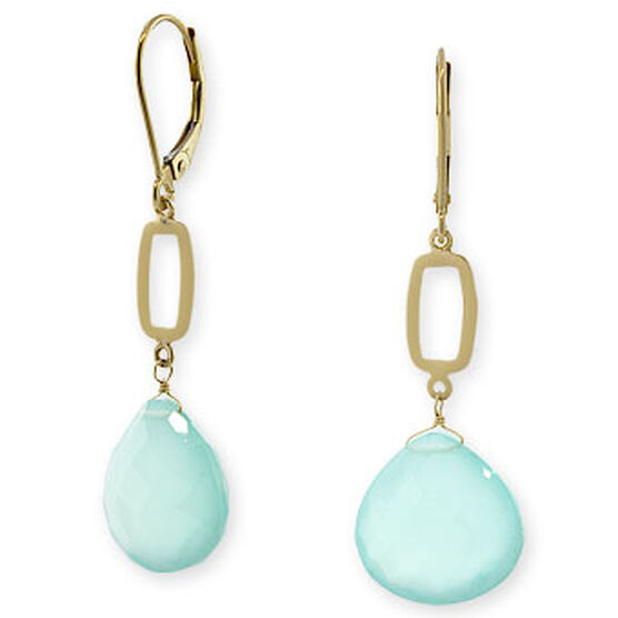 Chalcedony Earrings 14K