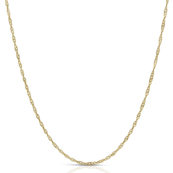 Singapore Chain Necklace 14K, 30""