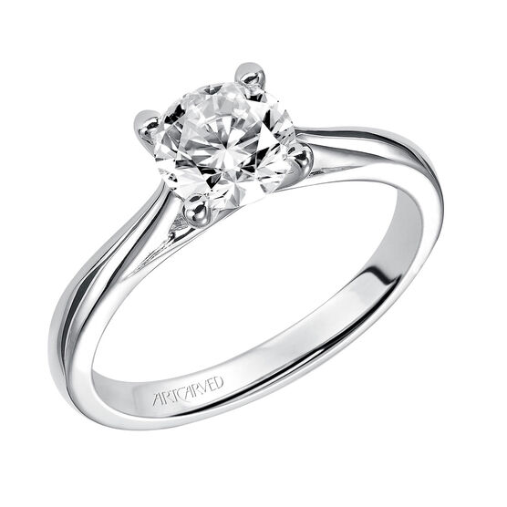 ArtCarved Solitaire Semi-Mount Engagement Ring 14K