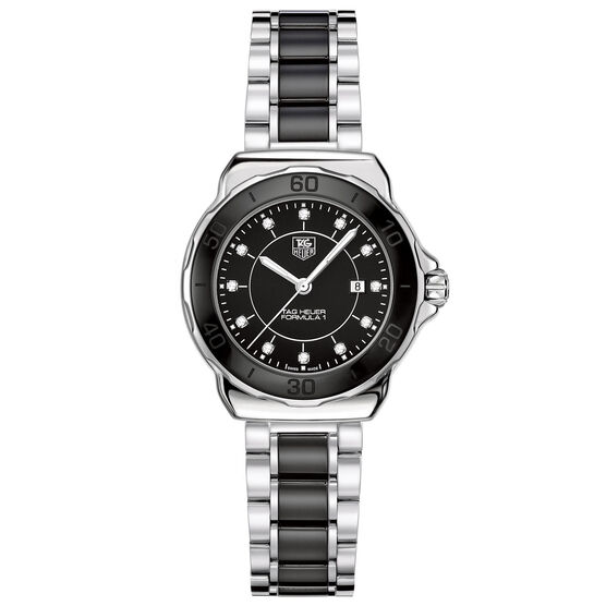 TAG Heuer Formula 1 Black Watch with Diamond Dial, 32mm