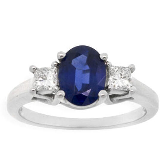Sapphire & Diamond Ring in Platinum