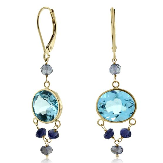 Gemstone Earrings 14K