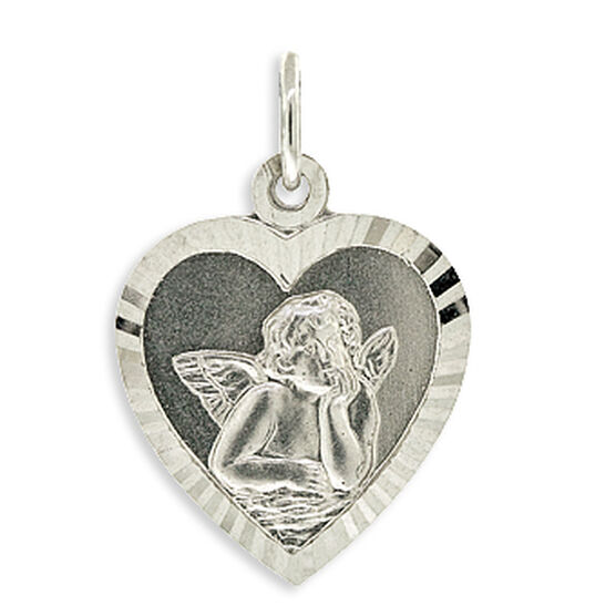 Angel Heart Charm / Pendant 14K