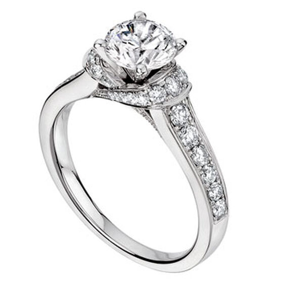 Scott Kay Embrace Diamond Semi-Mount Ring 14K