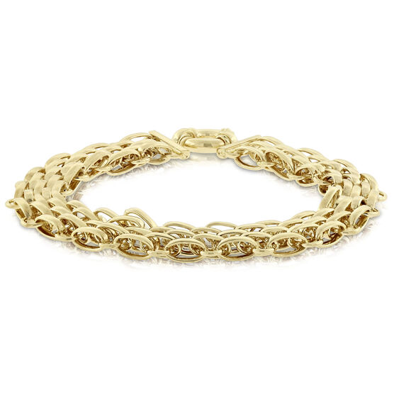 Toscano Panther Link Bracelet 14K