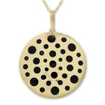 Enameled Disc Pendant 14K