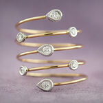 Diamond Coil Ring 14K