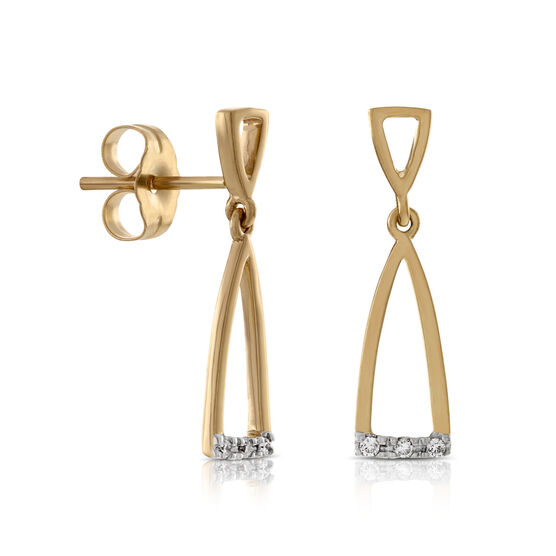 Diamond Dangle Earrings 14K