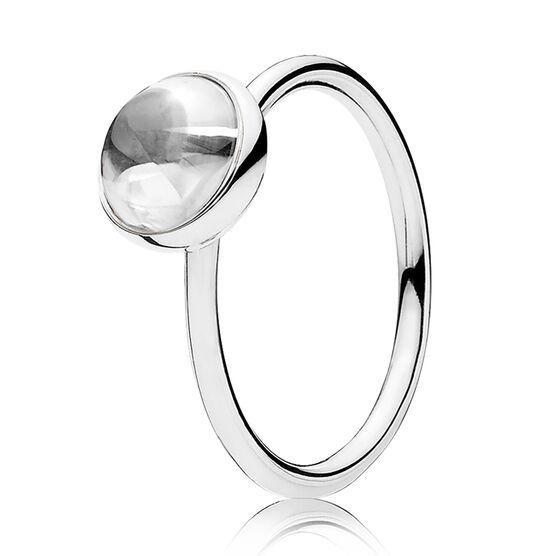 PANDORA Poetic Droplet CZ Ring