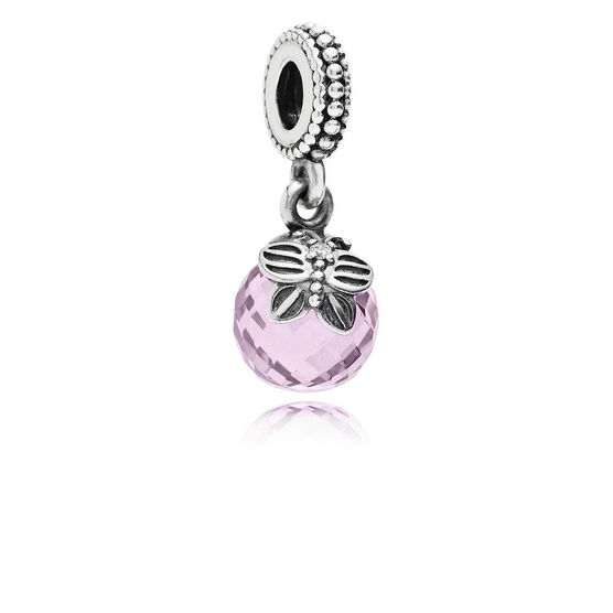 PANDORA Morning Butterfly Pink CZ Dangle Charm