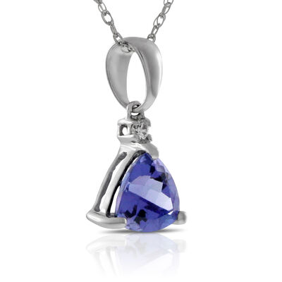 Tanzanite & Diamond Pendant 14K